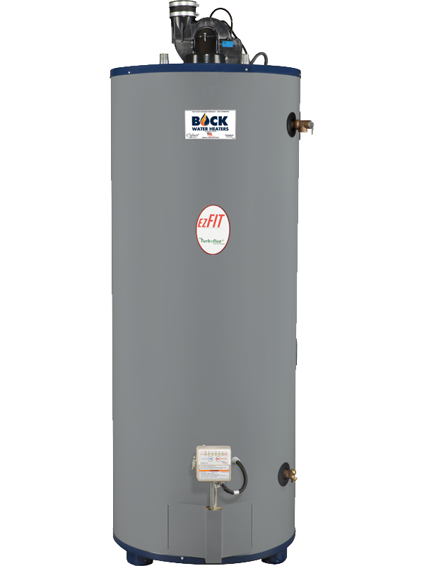 BOCK 75 GAL POWER DIRECT VENT COMMERCIAL GAS WATER HEATER